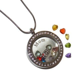 Jewelry - Custom Mothers Day Floating Locket Necklace Gift